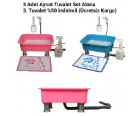 3 Adet Aycat Tuvalet Set Alana 3. Tuvalet %50 indirimli