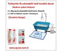 Aycat Kedi Tuvaleti Medium Paket ( MAVİ ) (Ücretsiz Kargo)