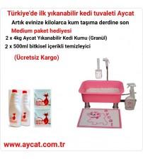 Aycat Kedi Tuvaleti Medium Paket ( PEMBE ) Ücretsiz Kargo