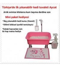 Aycat Kedi Tuvaleti Mini Paket ( PEMBE )