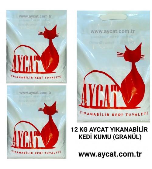 Aycat Yıkanabilir Kedi Kumu 12 kg
