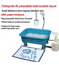 Aycat Kedi Tuvaleti Mini Paket ( MAVİ )