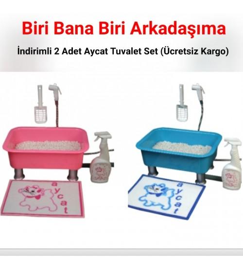Biri Bana Biri Arkadaşıma İndirimli 2 Adet Aycat Tuvalet Set